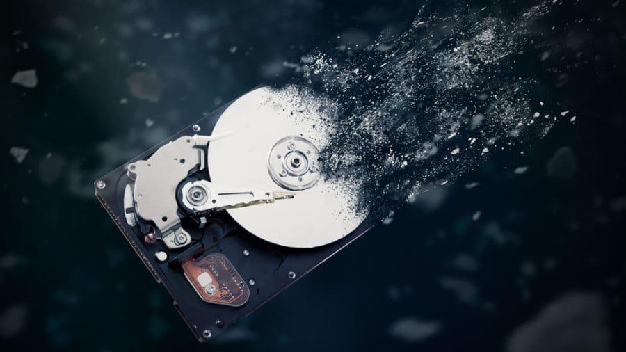 cork hard-drive destruction